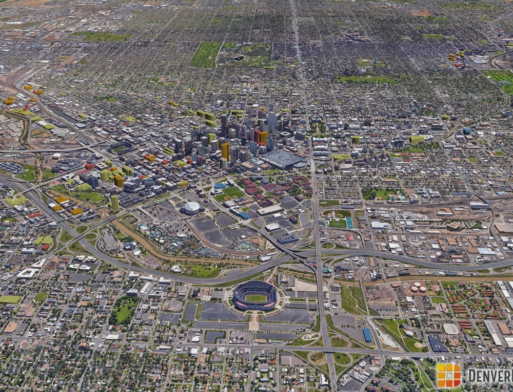 Denver 3D Future Skyline: December 2016