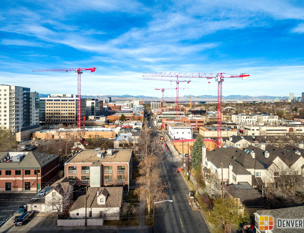 Additional Tower Cranes Up in Cherry Creek