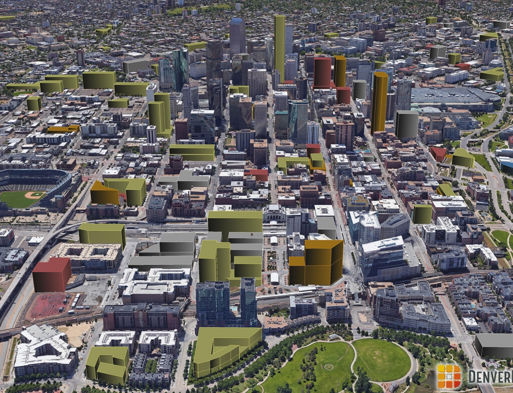 Denver 3D Future Skyline: December 2017